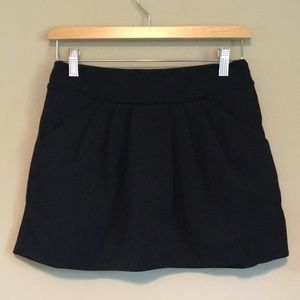 Diane Von Furstenberg Black Mini Skirt 0